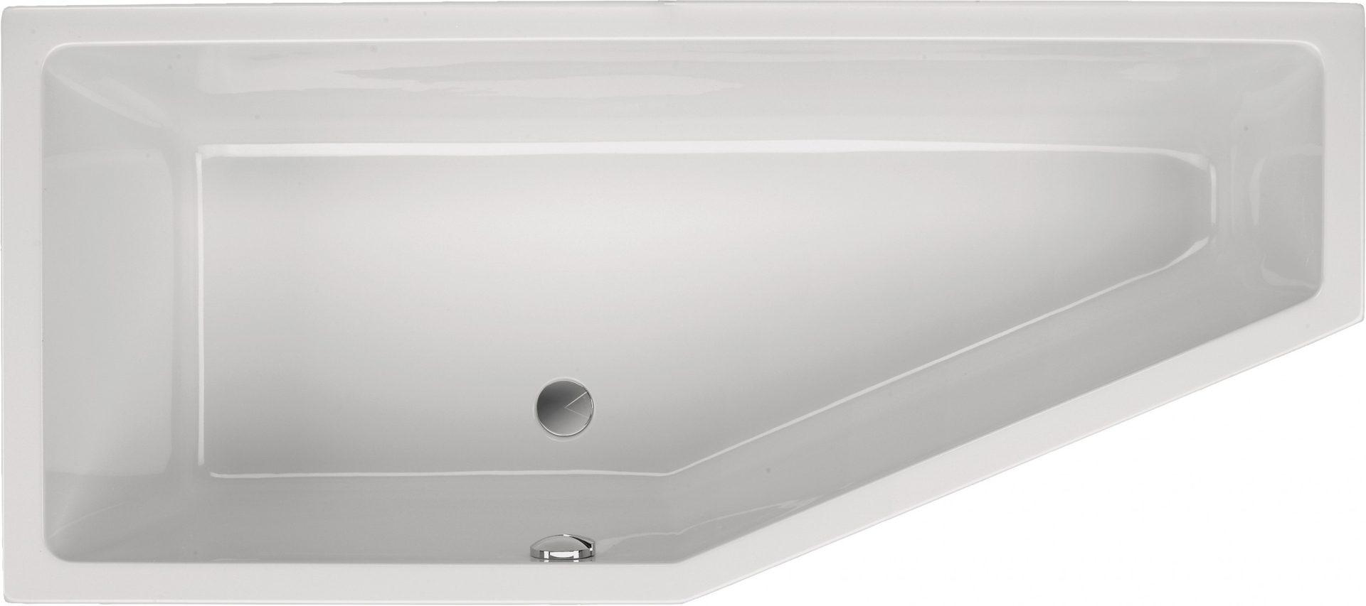 Raumsparbadewanne 170 x 75 x 45 cm bad heizung design for Asymmetrische badewanne 170