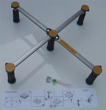 Duschwanne universal 5-Punkt Wannenfüße 125-185 mm