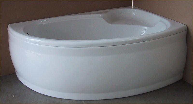 Raumsparbadewanne 155 x 100 cm Schürze