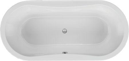 Oval Badewanne 180 x 80 x 48,5 cm