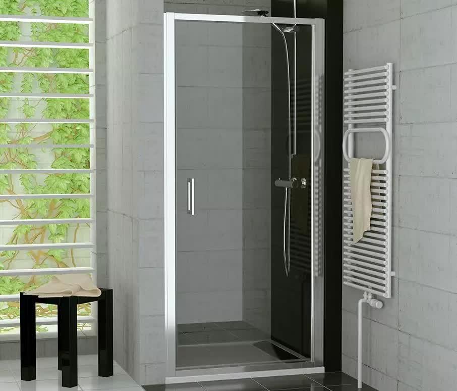 nischent r 100 cm pendelt r duscht r mit rahmen nach innen ffnend. Black Bedroom Furniture Sets. Home Design Ideas