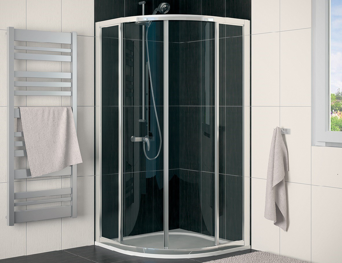 runddusche schiebet r 80 x 80 x 190 cm duschabtrennung dusche viertelkreis runddusche 80x80 cm. Black Bedroom Furniture Sets. Home Design Ideas