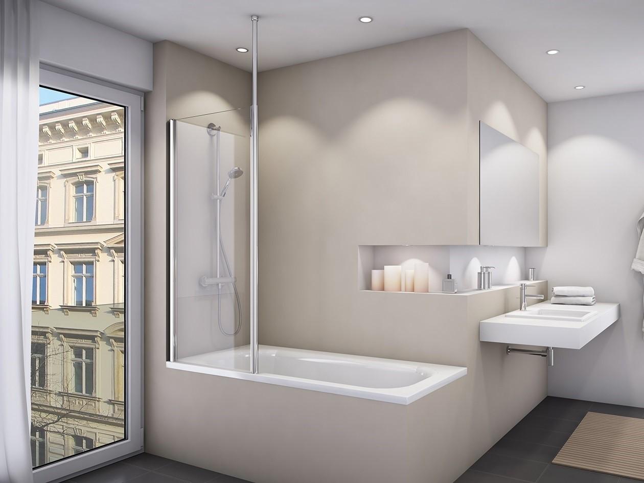 Duschwand Badewanne 75 x 150 cm