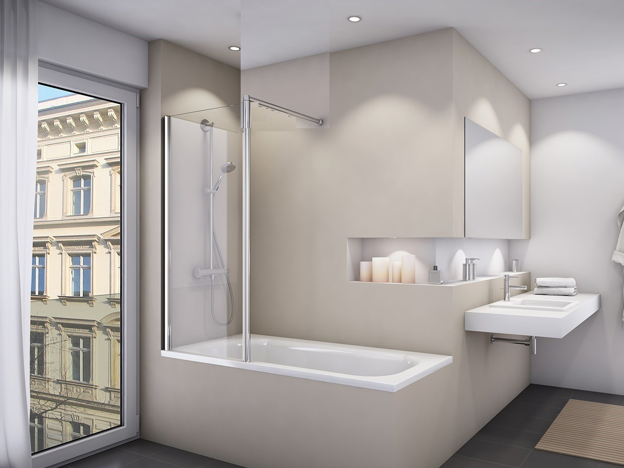 Duschwand badewanne 50 x 150 cm badewannentrennwand - Badewanne mit duschwand ...