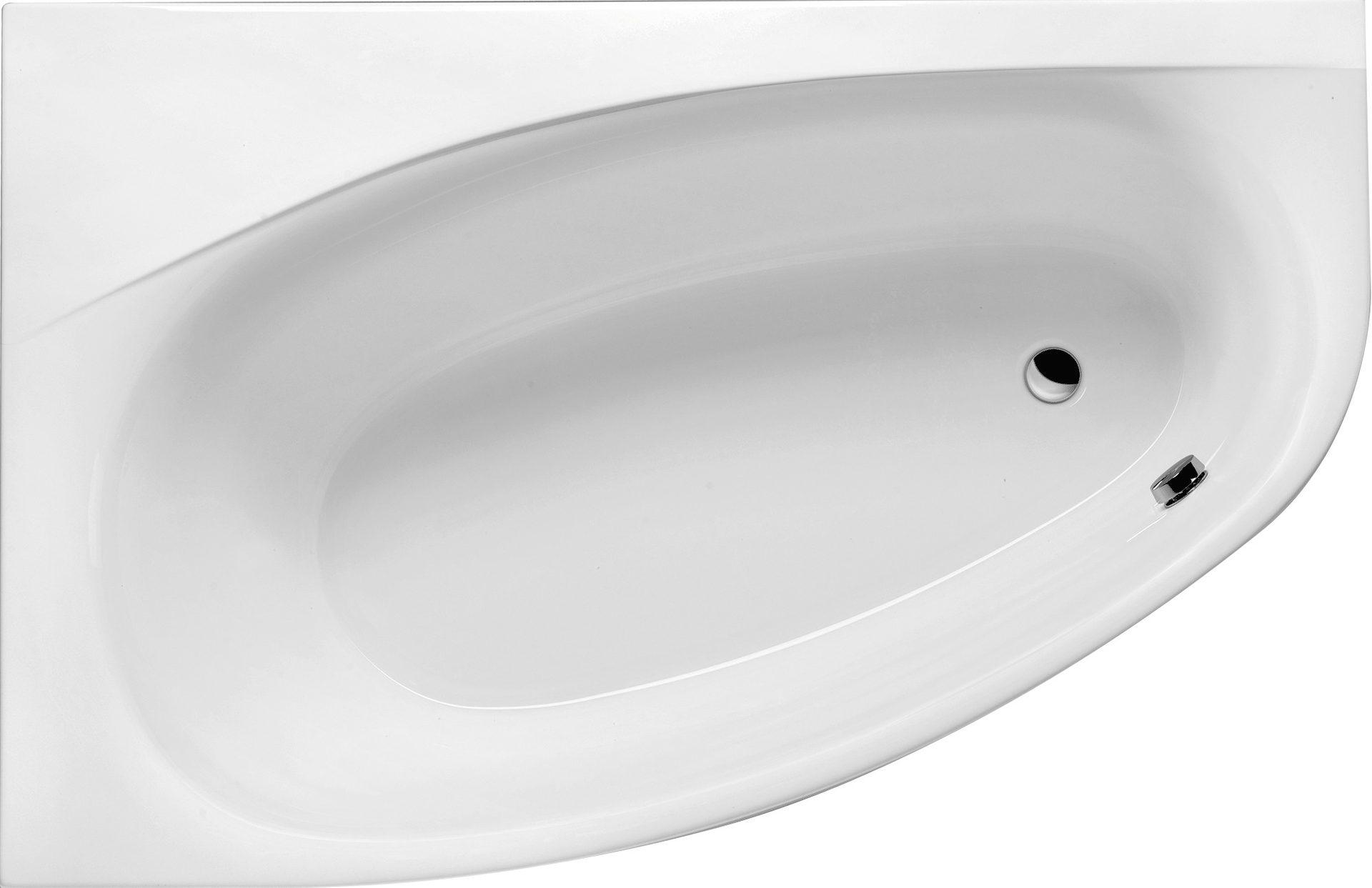 Raumsparwanne 170 x 110 cm asymmetrische eckbadewanne for Asymmetrische badewanne 170