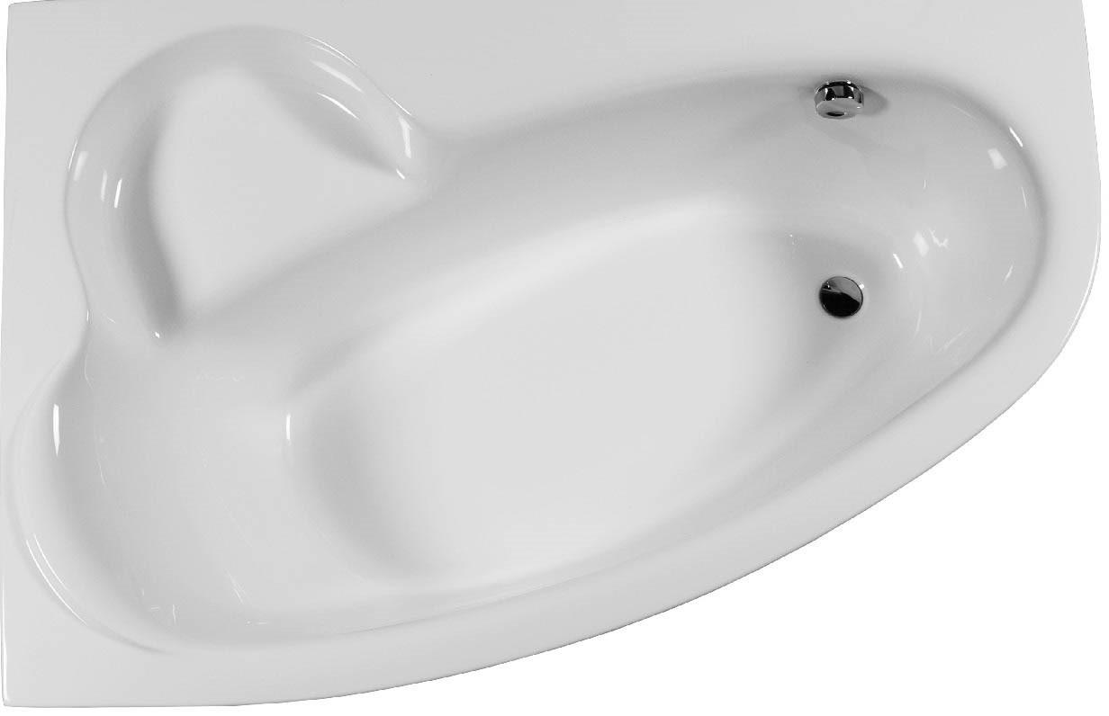 Raumsparbadewanne 170 x 110 x 46 cm wei bad design for Asymmetrische badewanne 170