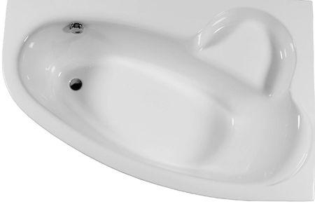 Raumsparbadewanne 170 x 110 x 46 cm weiß
