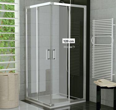 Duschkabine Eckeinstieg 120 x 90 x 190 cm Schiebetür