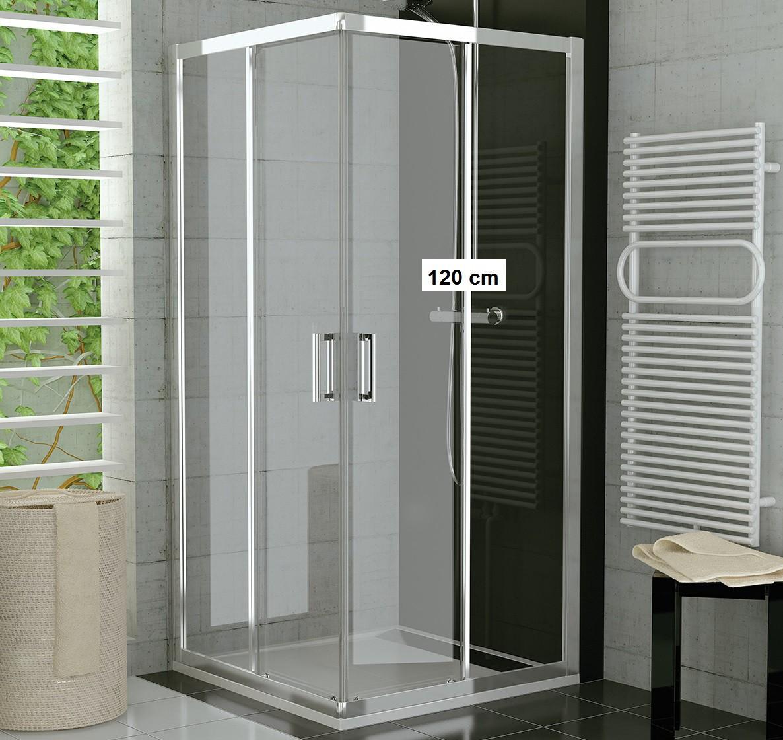 duschkabine eckeinstieg 120 x 80 schiebet r dusche mit schiebesystem. Black Bedroom Furniture Sets. Home Design Ideas