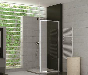 Duschabtrennung kunststoff  Duschtrennwand Glas feststehend 100 x 190 cm Duschabtrennung ...