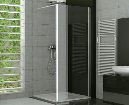 Duschtrennwand Glas feststehend 120 x 190 cm