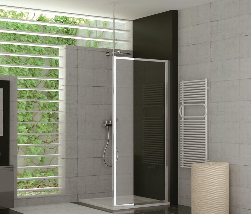 duschtrennwand glas feststehend 70 x 190 cm - Dusche Aus Glas Oder Kunststoff
