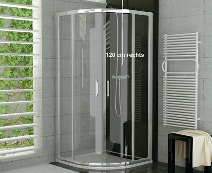 Viertelkreis Duschkabine 120 x 90 x 190 cm