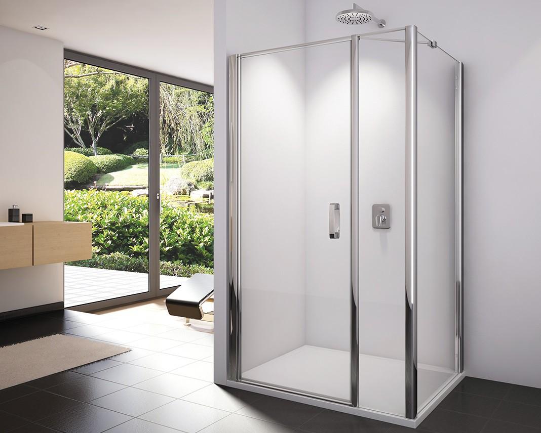 Dusche Pendeltür Seitenwand 140 x 120 x 195 | Bad Design Heizung