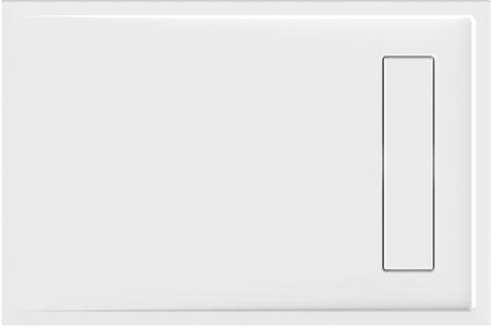superflache Duschwanne 120 x 80 x 2,5 cm weiß