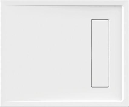 Duschwanne superflach 90 x 75 x 2,5 cm weiß
