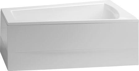 Raumsparbadewanne 175 x 135 x 49 cm Schürze