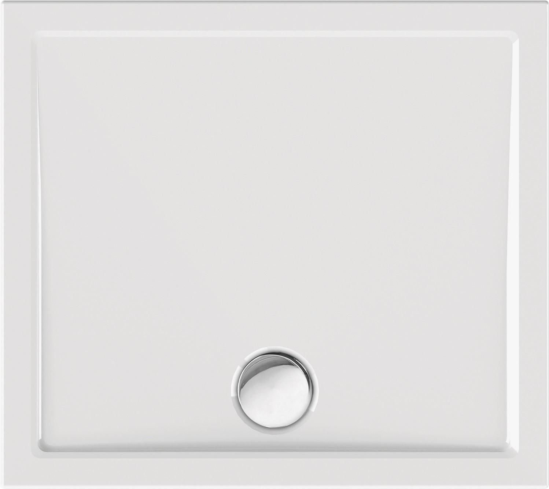 Duschwanne superflach 100 x 90 x 2,5 cm weiß