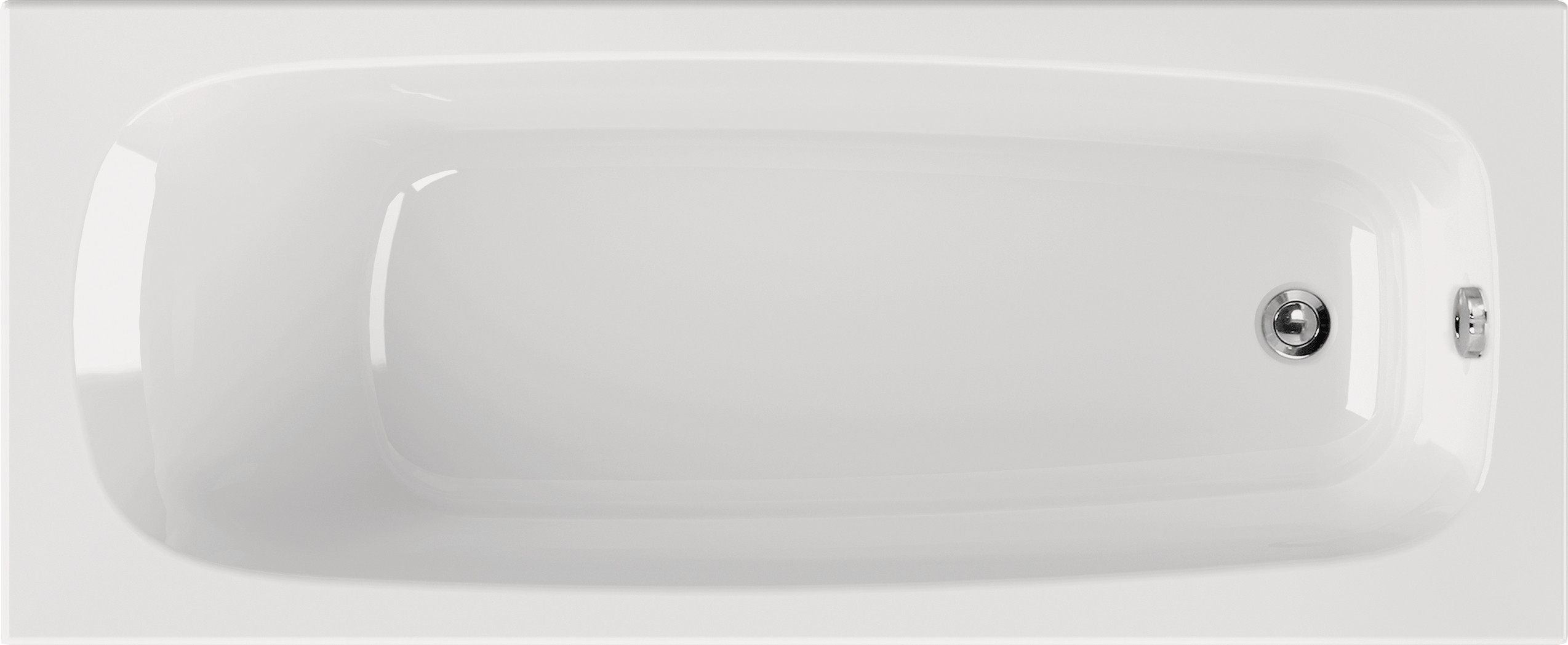 Rechteck Badewanne 170 x 75 cm Körperformwanne mit Wannenträger