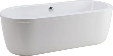 freistehende Oval Badewanne 180 x 80 x 44/57,5 cm Schürze