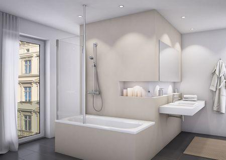 Badewannenaufsatz mit Seitenwand