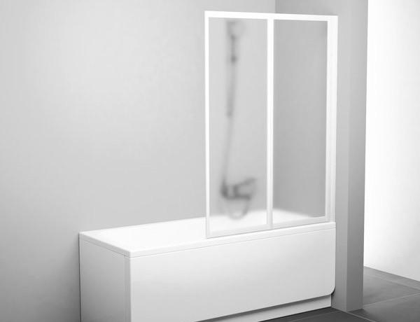 Faltwand Badewanne 100 x 140 cm Duschabtrennung Dusche ...