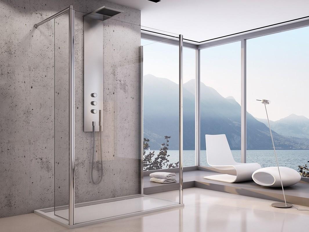 duschwand mit seitenwand 3 teilig beweglichem element seitenteil. Black Bedroom Furniture Sets. Home Design Ideas