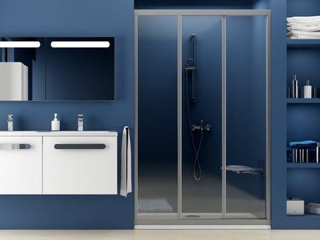 Schiebetür Nische Dusche 130 x 190 cm