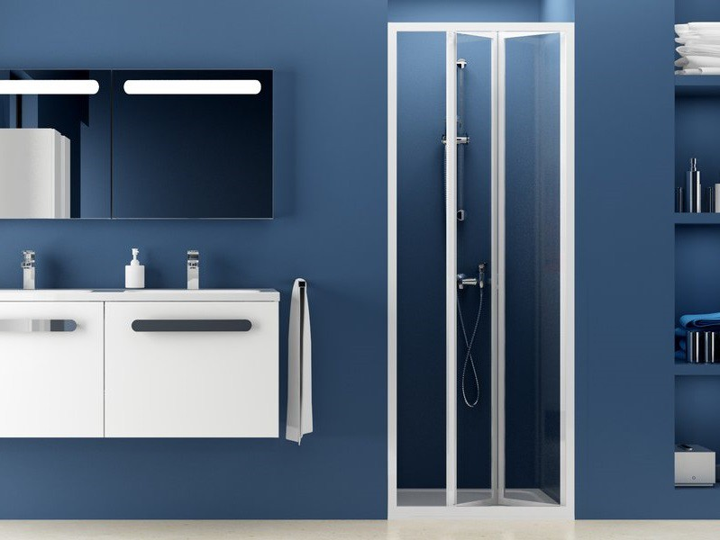 Falttür Dusche Nische 70 x 185 cm | Bad Heizung Design