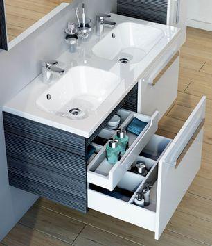 Waschbeckenunterschrank Doppelwaschbecken CR
