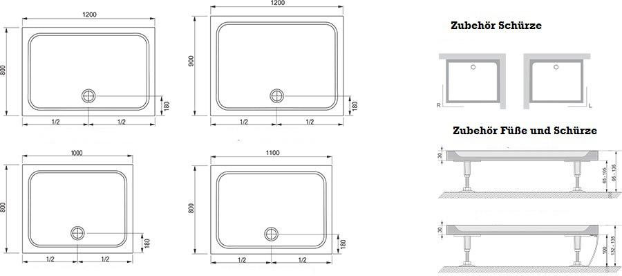 duschwanne 80 x 100 latest duschkabine mit duschwanne x cm in deggendorf with duschwanne 80 x. Black Bedroom Furniture Sets. Home Design Ideas