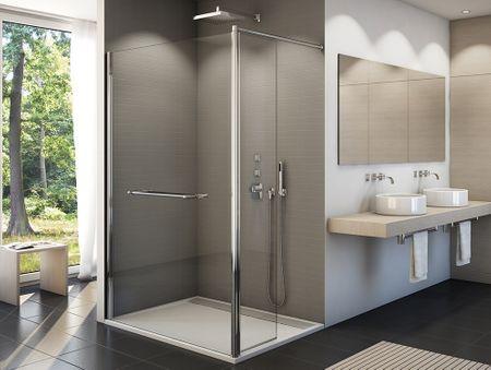 freistehende Duschwand 110 x 200 cm