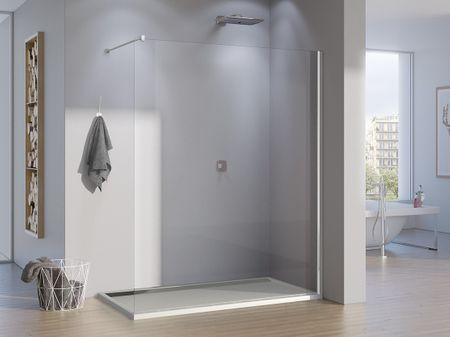 freistehende Duschwand Glas 110 x 200 cm