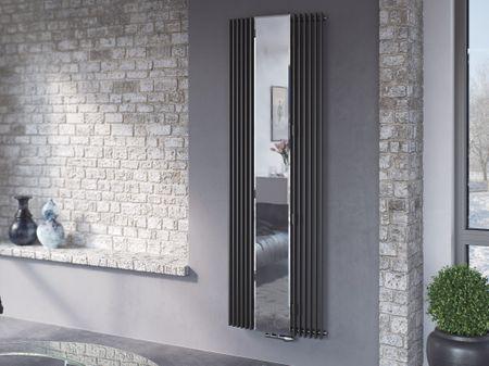Röhrenheizkörper mit Spiegel 180 x 60 cm
