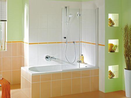Duschwand Badewanne 60 cm feststehend Duschabtrennung | Bad ...