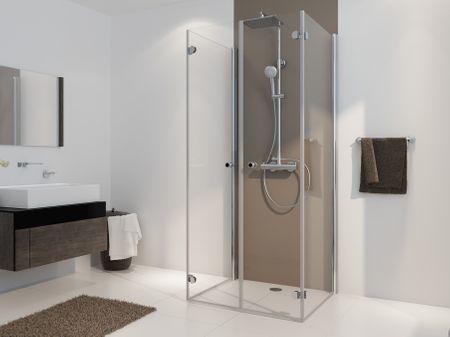 Falttür Dusche U-Form