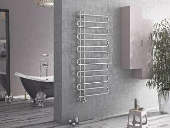 badheizk rper chrom als handtuchw rmer mittelanschlu. Black Bedroom Furniture Sets. Home Design Ideas