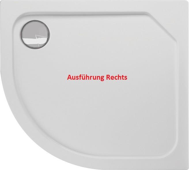 Duschwanne Viertelkreis 100 x 90 x 2,5 cm R55