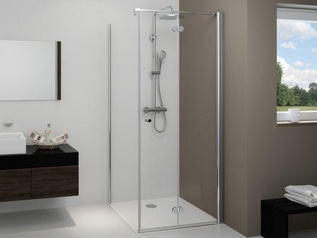 Dusche mit Seitenwand Drehfalttür ab 70 x 70 x 220 cm
