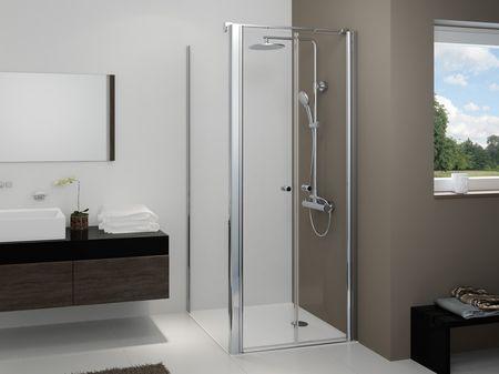 dusche t r mit seitenwand duschkabine f r bodengleichen einstieg. Black Bedroom Furniture Sets. Home Design Ideas