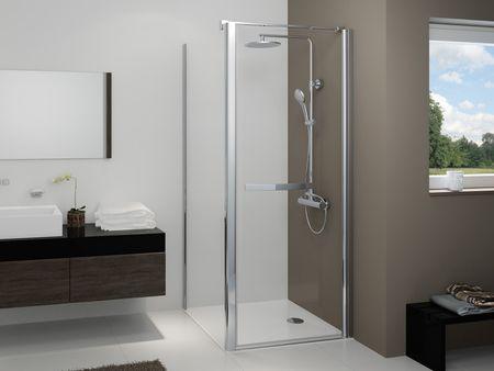 Dusche mit Seitenwand Drehtür 1-teilig 220 cm hoch