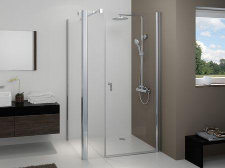 Duschkabine mit Seitenwand Drehtür 2-teilig 220 cm hoch