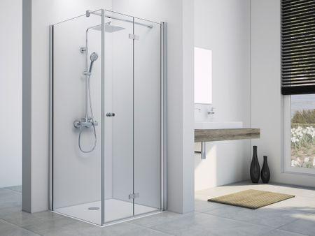 Duschkabine Drehfalttür mit Seitenwand ab 70 x 70 x 220 cm | Bad ...