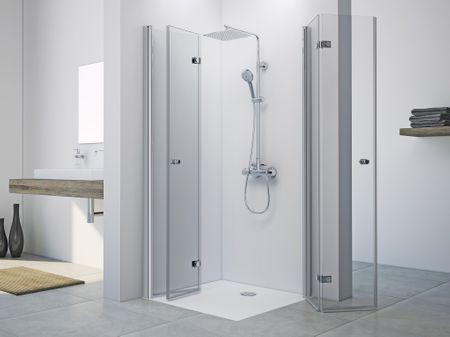 Dusche Drehfalttür Eckeinstieg 80 x 80 x 220 cm