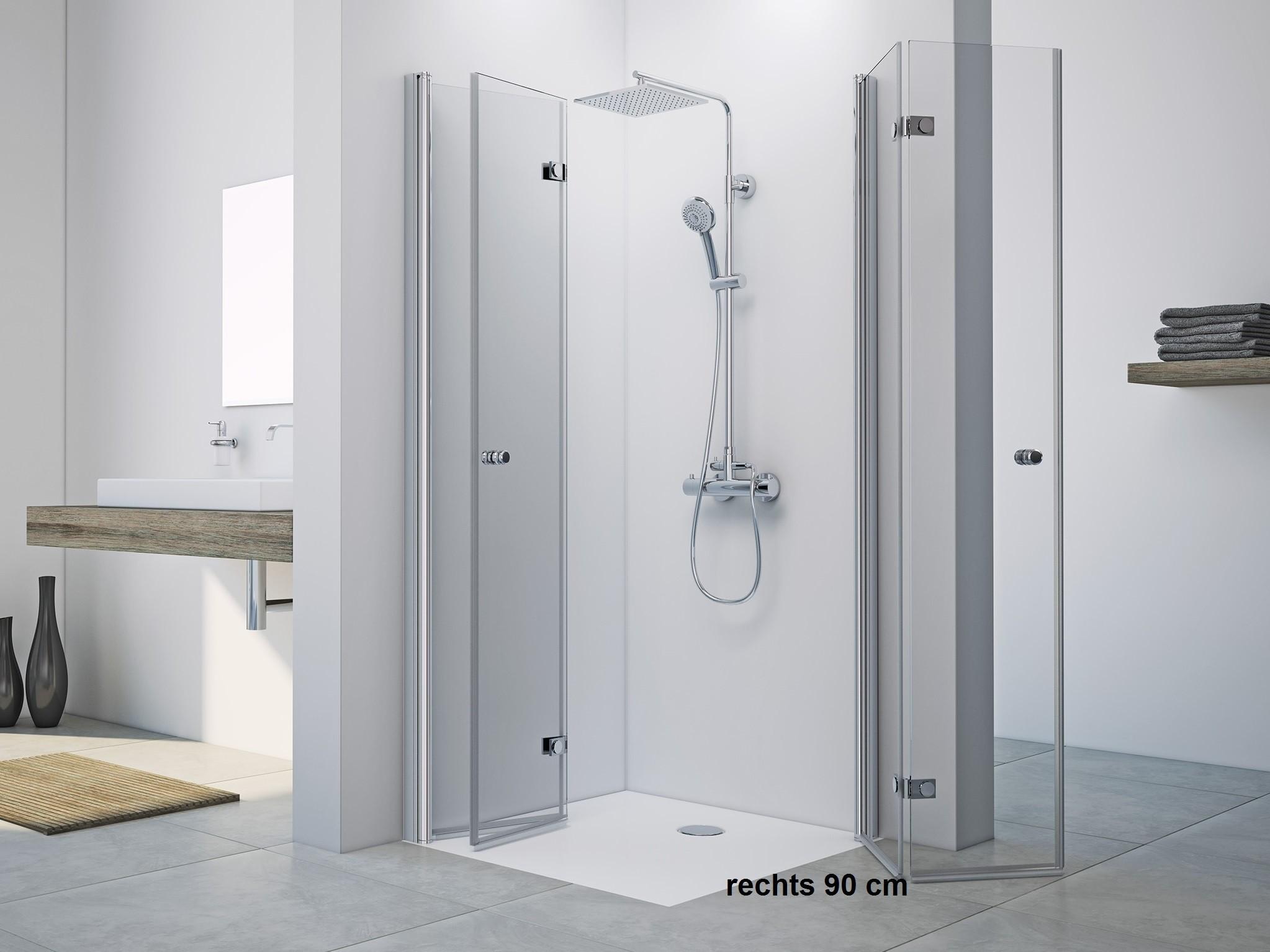 dusche drehfaltt r eckeinstieg 90 x 70 cm h he 2200 mm. Black Bedroom Furniture Sets. Home Design Ideas