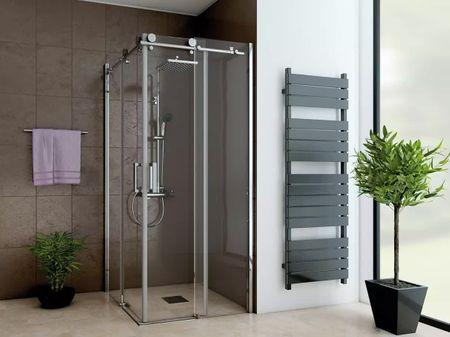 Dusche Eckeinstieg Schiebetür 100 x 100 x 220 cm