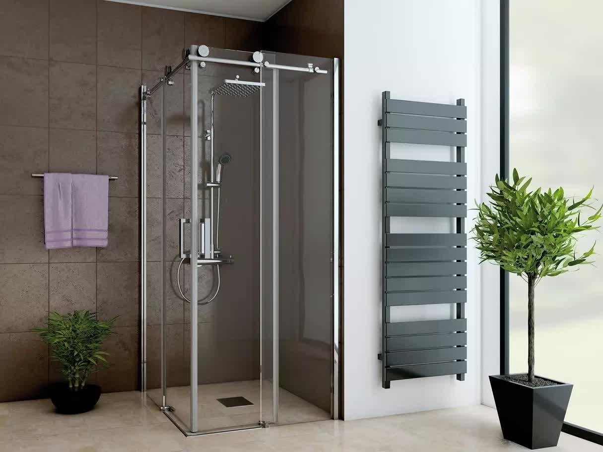 Duschkabine 80x80cm Duschabtrennung Schiebetür Eckeinstieg Duschtür Duschtasse