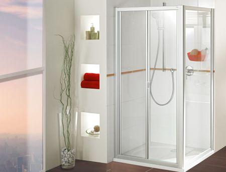 Dusche mit Seitenwand Falttür ab 75 x 75 x 185 cm