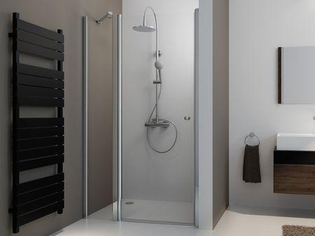 Duschtür mit Seitenteil 130 x 220 cm