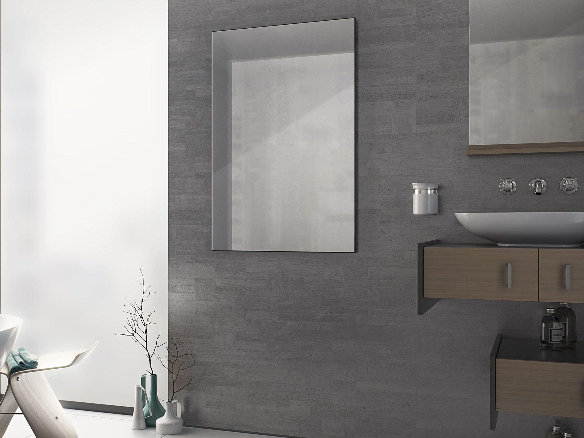 Infrarot Spiegelheizung 20 x 20 cm 200 Watt   Bad Design Heizung